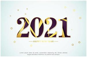 abstraktes Hintergrunddesign des neuen Jahres 2021