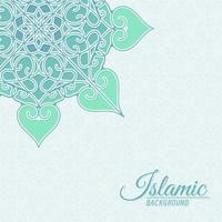 islamisk stil dekorativ bakgrund med mandala vektor