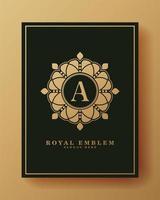 dekorativer Luxusbuchstabe ein Logo vektor