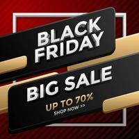 schwarzer Freitag großer Verkauf vektor