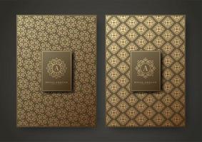 Premium Muster Textur Menü Design-Set vektor