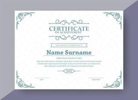 klassiskt utmärkelsen certifikat med ram vektor