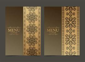 lyx premium meny täcka design set vektor