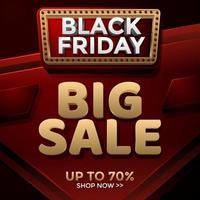 Black Friday Big Sale Vorlage vektor
