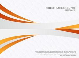 abstrakte orange Wellenhintergrundschablone