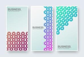 Banner abstrakte florale Textur Design Hintergrund gesetzt vektor