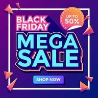 schwarzer Freitag Mega Sale Vorlage