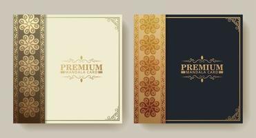 premium guld mönster textur meny design set vektor