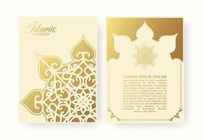 elegante islamische Abdeckung mit Mandala-Konzept vektor