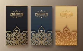 Luxus Visitenkarte und Vintage Ornament Logo Set vektor