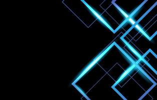 geometrischer blauer Neonhintergrund vektor