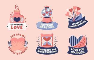 herzförmige Symbole für Valentinstag vektor