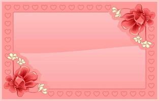 rosa Blumenhintergrund vektor