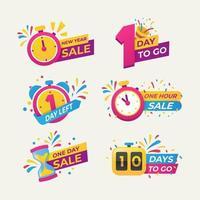 Set Countdown-Etikett für den Verkauf