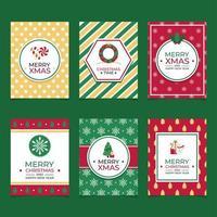 färgglada platta glada julkonceptkort
