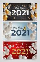 banner för det nya året 2021 vektor