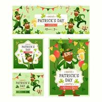 St. Patrick's Day inbjudningskort vektor