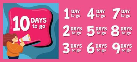 Neujahrs-Countdown für Social-Media-Post-Vorlage