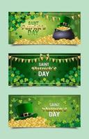st. Patrick's Day Feier Banner Vorlagen vektor