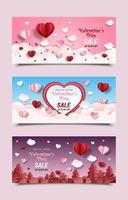 Werbebanner zum Valentinstag vektor