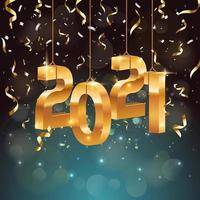 lyxen av nyår 2021 festkoncept vektor