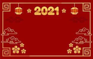 gong xi fett choi bakgrund med rött och guld vektor