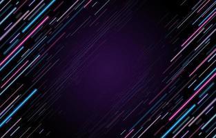 Hintergrundkonzept der diagonalen Neonlinien vektor