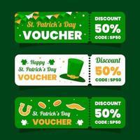 st. patrick's day voucher marketing collection