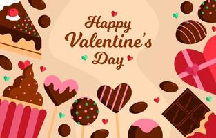 süßer Schoko-Valentinstag vektor