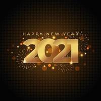 goldenes frohes neues Jahr 2021 vektor