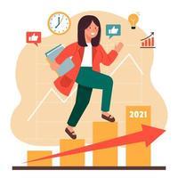 Karrierewachstum im Laufe der Jahre Auflösung
