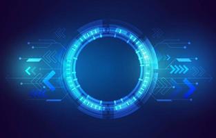 Technologie Hud Hintergrund vektor