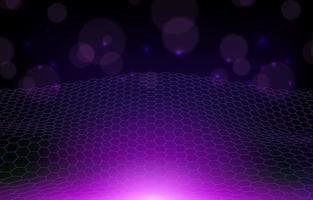 lila dunkelblauer gewellter Netzkreis abstrakter Hintergrund vektor