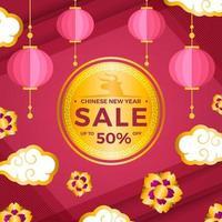 chinesisches Neujahrsverkaufs-Marketing- und Promotion-Kit vektor