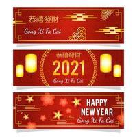 chinesisches Neujahrsgong xi fa cai Banner vektor