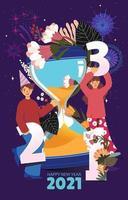 Countdown-Timer Neujahr mit Sandglas