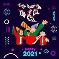 Neujahrs-Countdown-Party vektor