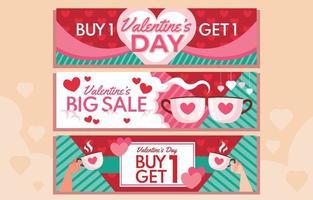 kaufen 1 bekommen 1 Paar Valentinstag vektor