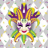 traditionelle venezianische Maske vektor
