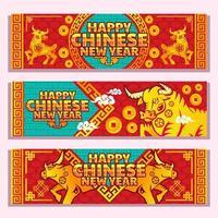 lycklig gyllene ox av kinesiskt nyår vektor