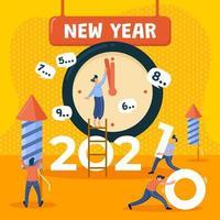 nytt år 2021 räkna ner vektor