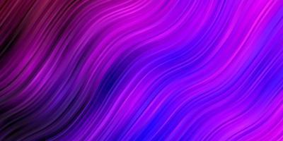 hellviolette Vektorschablone mit gekrümmten Linien.