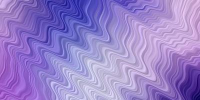 hellrosa, blaues Vektormuster mit Wellenlinien.