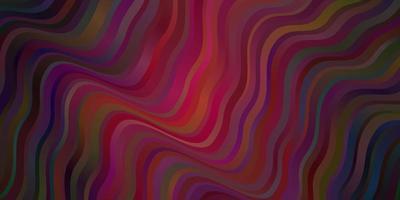 dunkelvioletter Vektorhintergrund mit Kreisbogen.