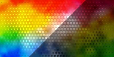 ljus flerfärgad vektorlayout med cirklar. vektor