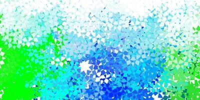 hellblaues Vektormuster mit polygonalem Stil.