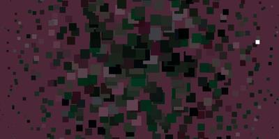 hellrosa, grüner Vektorhintergrund mit Rechtecken. vektor