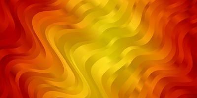 ljus orange vektormall med kurvor.