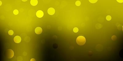 dunkelgrüne, gelbe Vektorschablone mit abstrakten Formen.