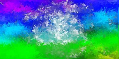 ljus flerfärgad vektor geometrisk månghörnigt tapet.